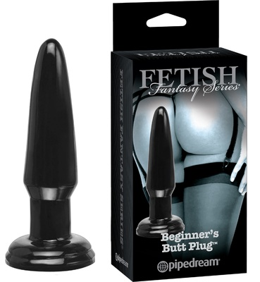Черная анальная пробка AFC Series Limited Edition Beginner's Butt Plug