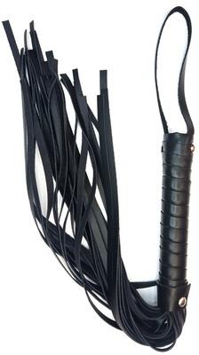 Плетка из натуральной кожи чёрная Erotoys Fetish line, Ero-112