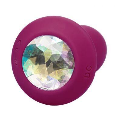 Перезаряжаемая анальная пробка с кристаллом и вибрацией Power Gem Vibrating Petite Crystal Probe фиолетовая