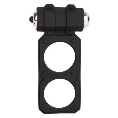 Виброкольцо с подхватом мошонки Silicone Lovers Gear Figure 8 Enhancer черное