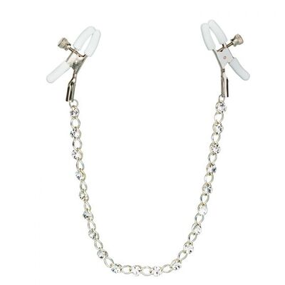 Зажимы на соски Nipple Play Crystal Chain Nipple Clamps