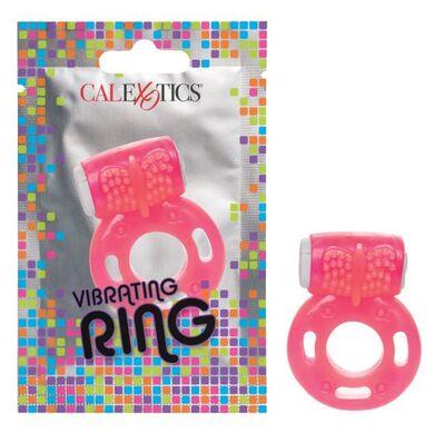 Виброкольцо эрекционное розовое Vibrating Ring