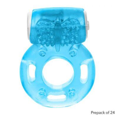 Виброкольцо эрекционное голубое Vibrating Ring