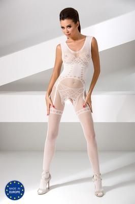 Изысканный боди-комбинезон белого цвета