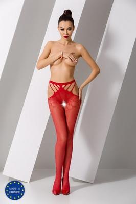 Красные эротичные колготки сетка