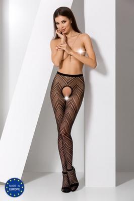 Черные секси колготки сетка с доступом S010