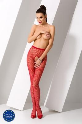 Красные секси колготки сетка с доступом S010