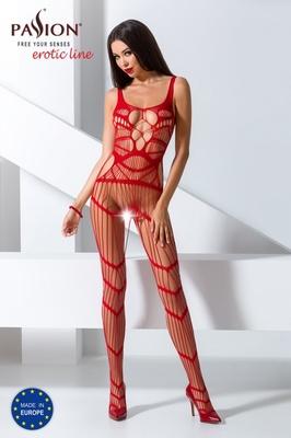 Ажурный боди-комбинезон красного цвета