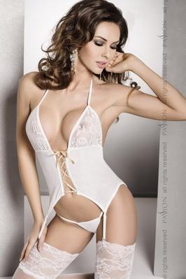 Белый корсет Roxy S/M