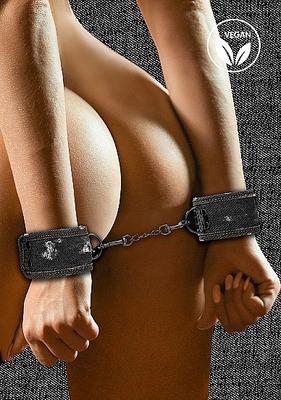 Джинсовые наручники чёрные Roughend Denim Style