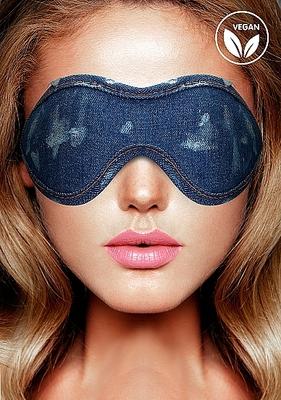 Джинсовая маска на глаза голубая Roughend Denim Style