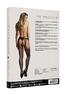 Эротические черные чулки-сетка с поясом, OS
