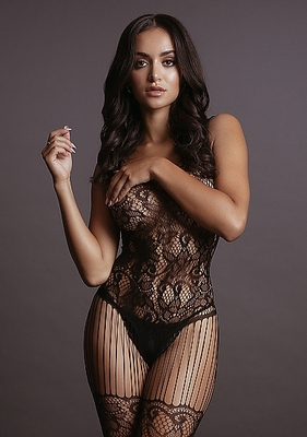 Боди-комбинезон Lace and Fishnet Bodystocking