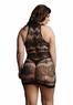 Мини платье с кружевным рисунком Plus size