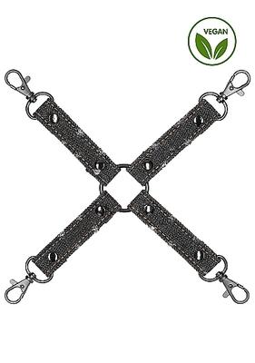 Крестообразный фиксатор чёрный для наручников и наножников Roughend Denim Style