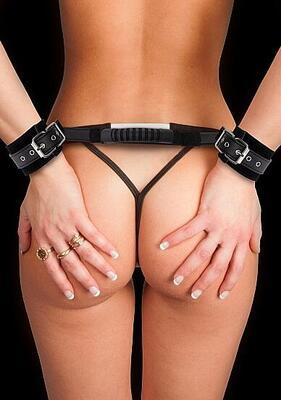 Наручники чёрные Adjustable Leather Handcuffs