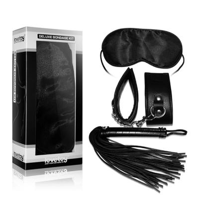 Набор Deluxe Bondage Kit (наручники, плеть, маска)