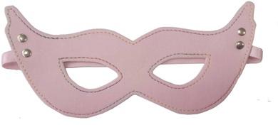 Маска БДСМ на глаза розовая